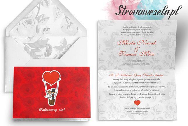 Zaproszenia ślubne, Zawiadomienia - Zakochani (18 wzorów)