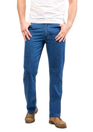 Spodnie jeansowe, lekkie, elastyczne, roz. 48