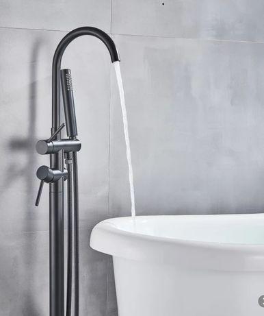 Bateria wolnostojąca prysznic- wanna- czarna