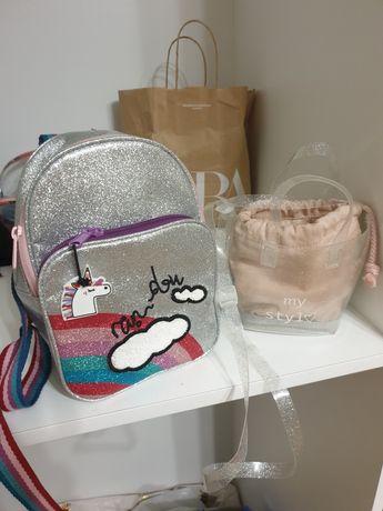 Рюкзак і сумочка ZARA для дівчинки з нової колекції