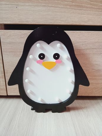 Lampka nocna pingwin