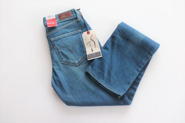 Nowe spodnie jeansowe Levis W27 L34 damskie jeansy 38 M długie okazja