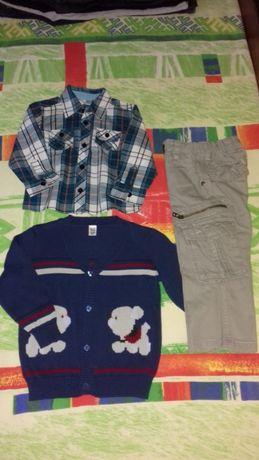 Модные штаны и рубашка,кофта(80-92).Разное