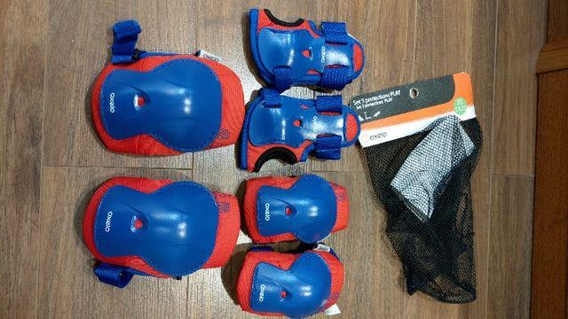 Ochraniacze dziecięce Oxelo Decathlon rolki, deskorolka, hulajnoga