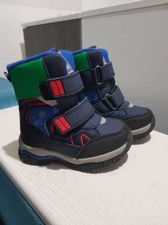 Термоботинки на мальчика зимние на меху ботинки размер 23 сапоги