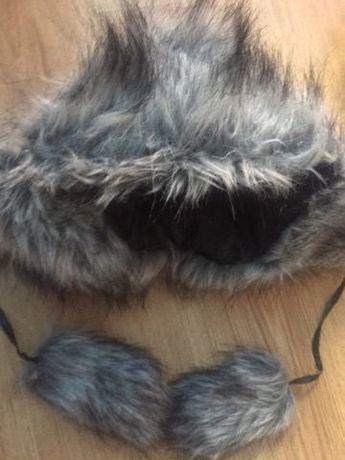Ciepła futrzana czapka zimowa Avanti L z nausznikami skórzana na zimę