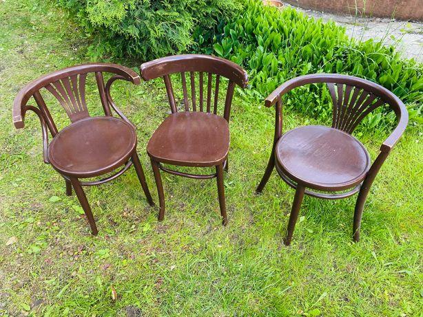 Krzesła drewniane PRL - retro, vintage, gięte