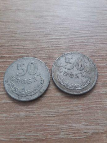 Moneta 50 groszy z 1975 i 1976 roku bez znaku mennicy