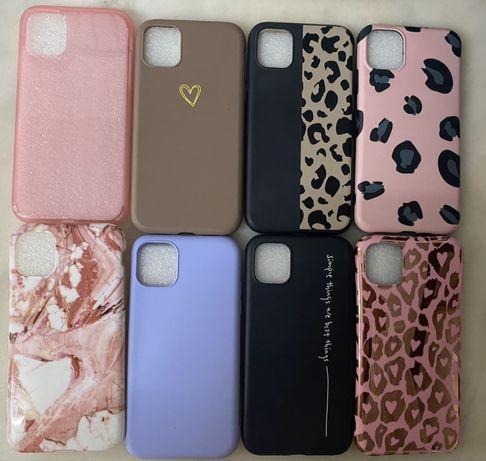 Capas iPhone 11 - Rosa e Tigresa/Castanha coração/lavanda/mármore