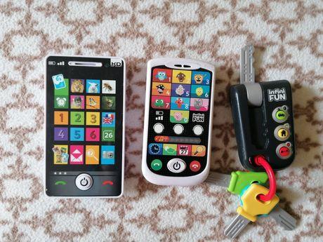 Zabawki telefon do nauki języka francuskiego dla najmłodszych
