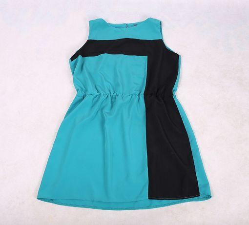 Zielona sukienka midi wyszczuplająca 44 46