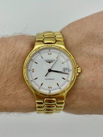 Швейцарские позолоченные Часы LONGINES Conquest Официальные