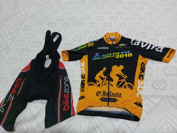 Jersey + calções alças ciclismo/BTT + ofertas*