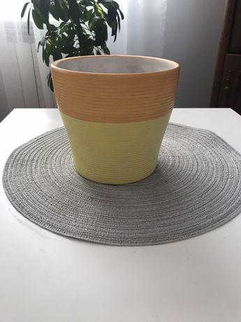 Donica ceramiczna 15 cm oslonka na donice