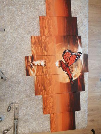 Tryptyk z motywem motyla