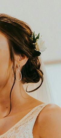 Kolczyki i bransoletka ślubna