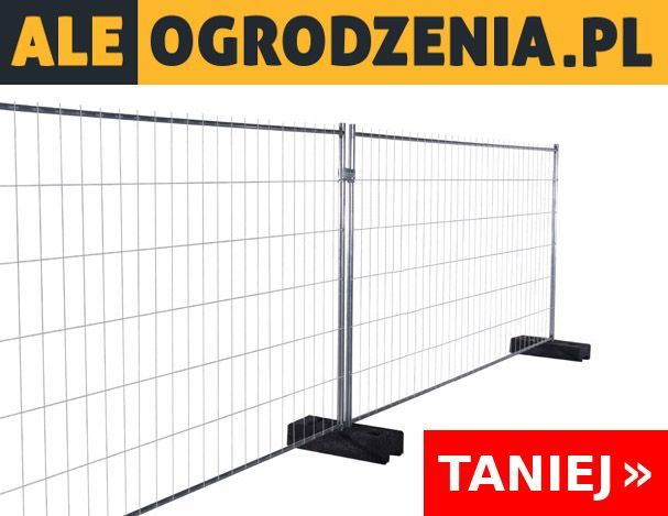 Ogrodzenie Tymczasowe Budowlane KOMPLET (panel + stopa 36kg + obejma)