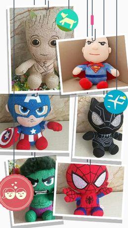 Мягкая игрушка супергерои Марвел, Грут, капитан Америка и тд, новые