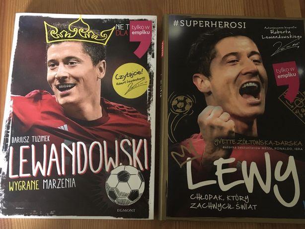 Zestaw 2 ksiazek: Lewandowski i Lewy