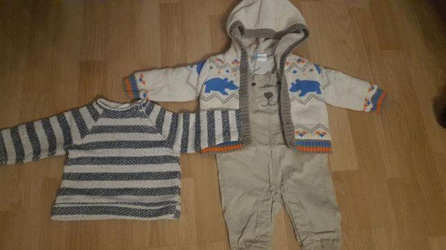 Ubranka chłopiece spodnie h&m sweter sweterek zara coolclab roz 68