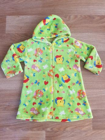 Махровый халат для девочки 3-5 лет