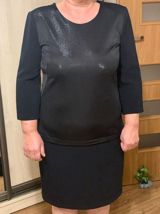 Sukienka czarna z srebrna nitka Niepołomice - image 1