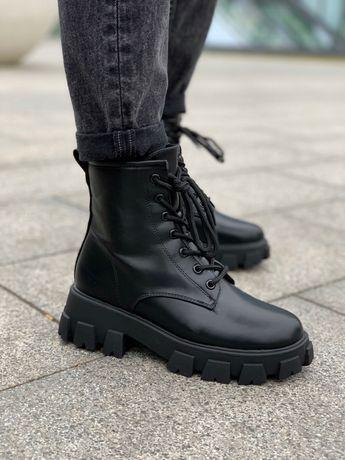Prada ботинки женские зимние