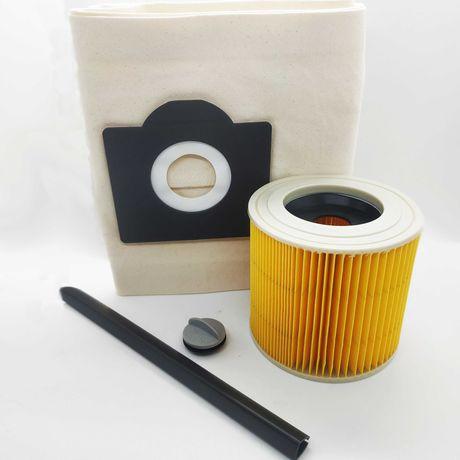 Моющиеся БОЛЬШОЙ мешок и фильтр для пылесоса Karcher WD3 WD3300 MV