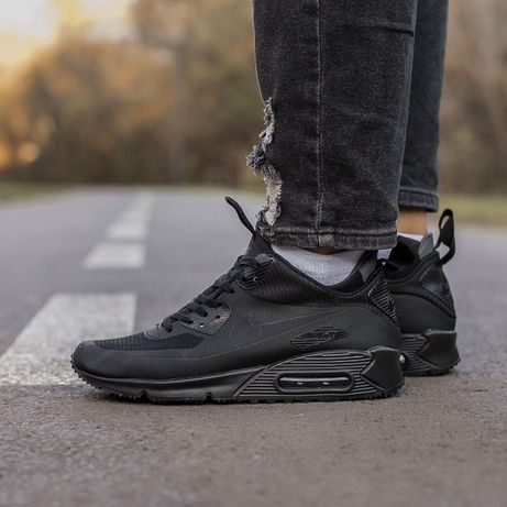 Мужские кроссовки Nike Air Max 90 Termo Black / Найк Аир Макс 90 Термо