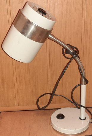 Лампа настольная советская металлическая