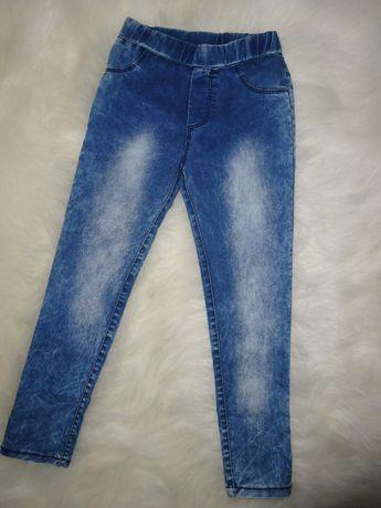 Spodnie legginsy dziewczęce jeans 146-152