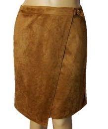 Nowa spódnica Jak zamszowa, trapezowa, zakładana, r. 36/38, C&A