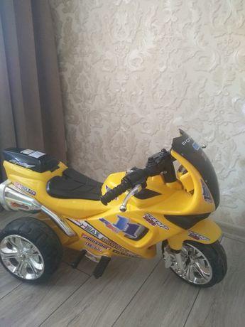 Детский электрокар мотоцикл