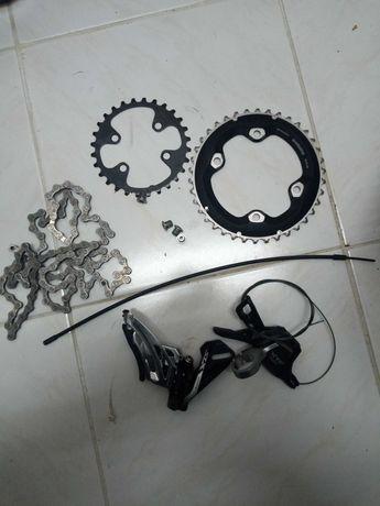 Transmissão dianteira Shimano SLX