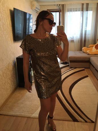 Платье на новый год в пайетках паетках блестящее шикарное