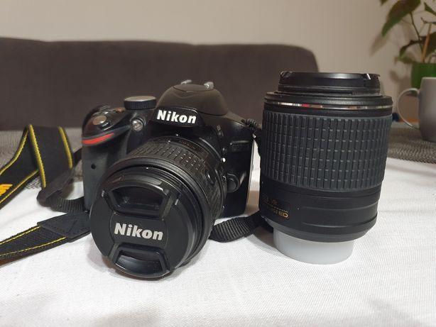 Nikon d3200 + dwa obiektywy