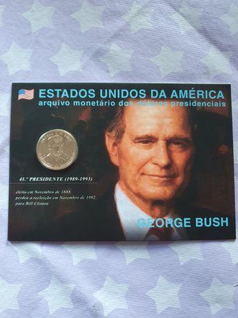 Dolar presidencial de cobre coberto a manganês