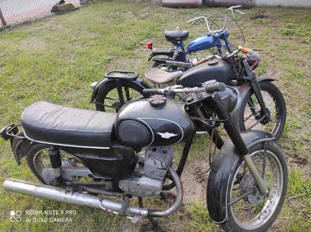 Pakiet 3 motorów SHL M04 wsk 175 motorynka pony komar Romet