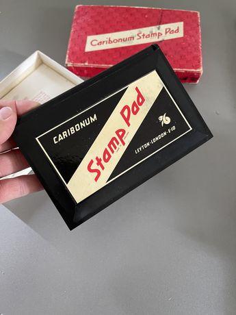 Carbionum stamp pad poduszka do pieczątek tuszownica z tuszem retro