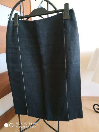 Spódnica czarna lniana