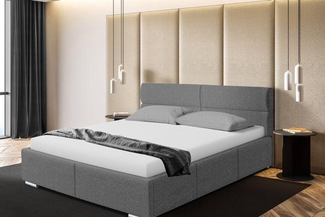 Łóżko tapicerowane do sypialni Monako, różne wymiary, stelaż+pojemnik