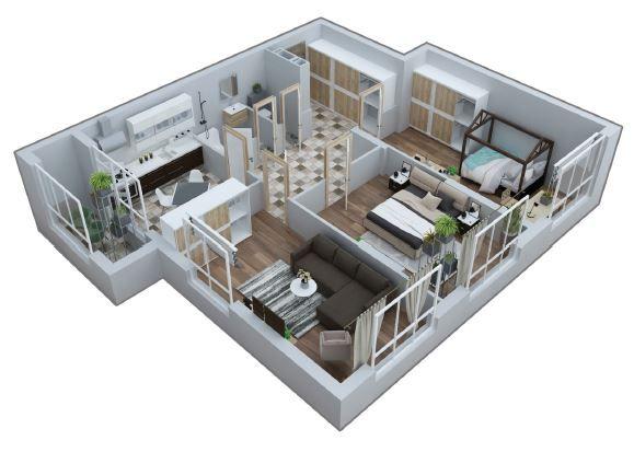 Шикарная 3-комнатная квартира от застройщика. ЖК Квітень