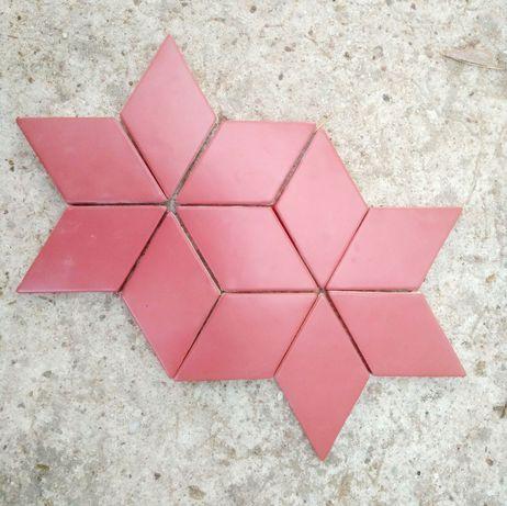 Płytki romb czerwone bordowe Natucer New Panal Rombo Carmin 8x15 cm