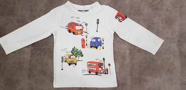 Реглан Next футболка 1,5-2 года автобусы