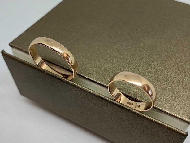 Klasyczne złote obrączki ślubne - komplet  585 R-11/24