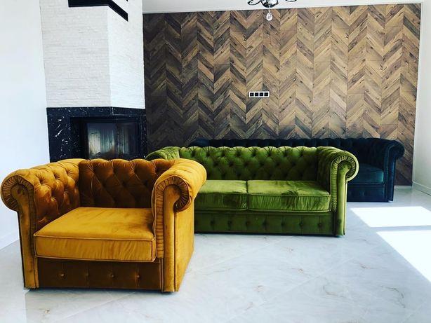 Новий набір диванів Chesterfild Честерфилд  Мягкая мебель