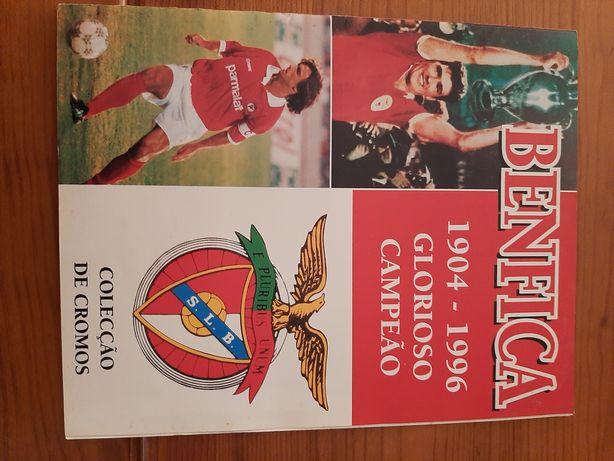 Caderneta Benfica 1904, - ,1996 completa e euro 2008 do jornal a bola