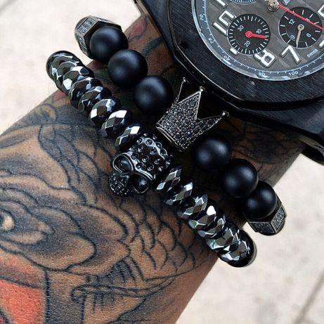 Комплект браслетов из натуральных камней(подарок)