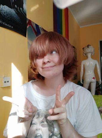 Peruka wig cosplay Pidge Voltron