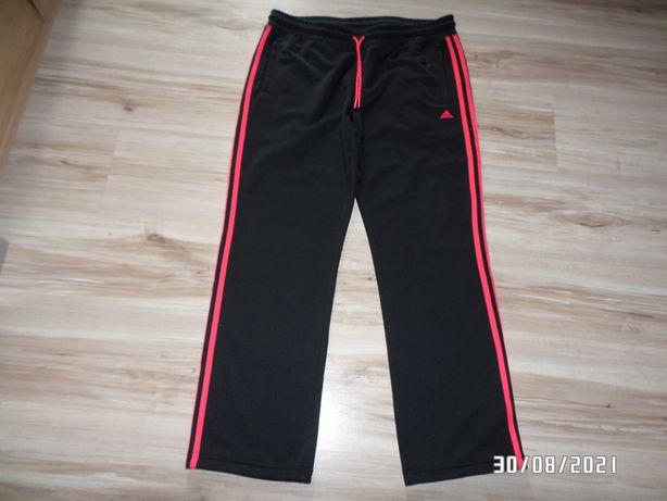 damskie firmowe spodnie dresowe -ADIDAS-L